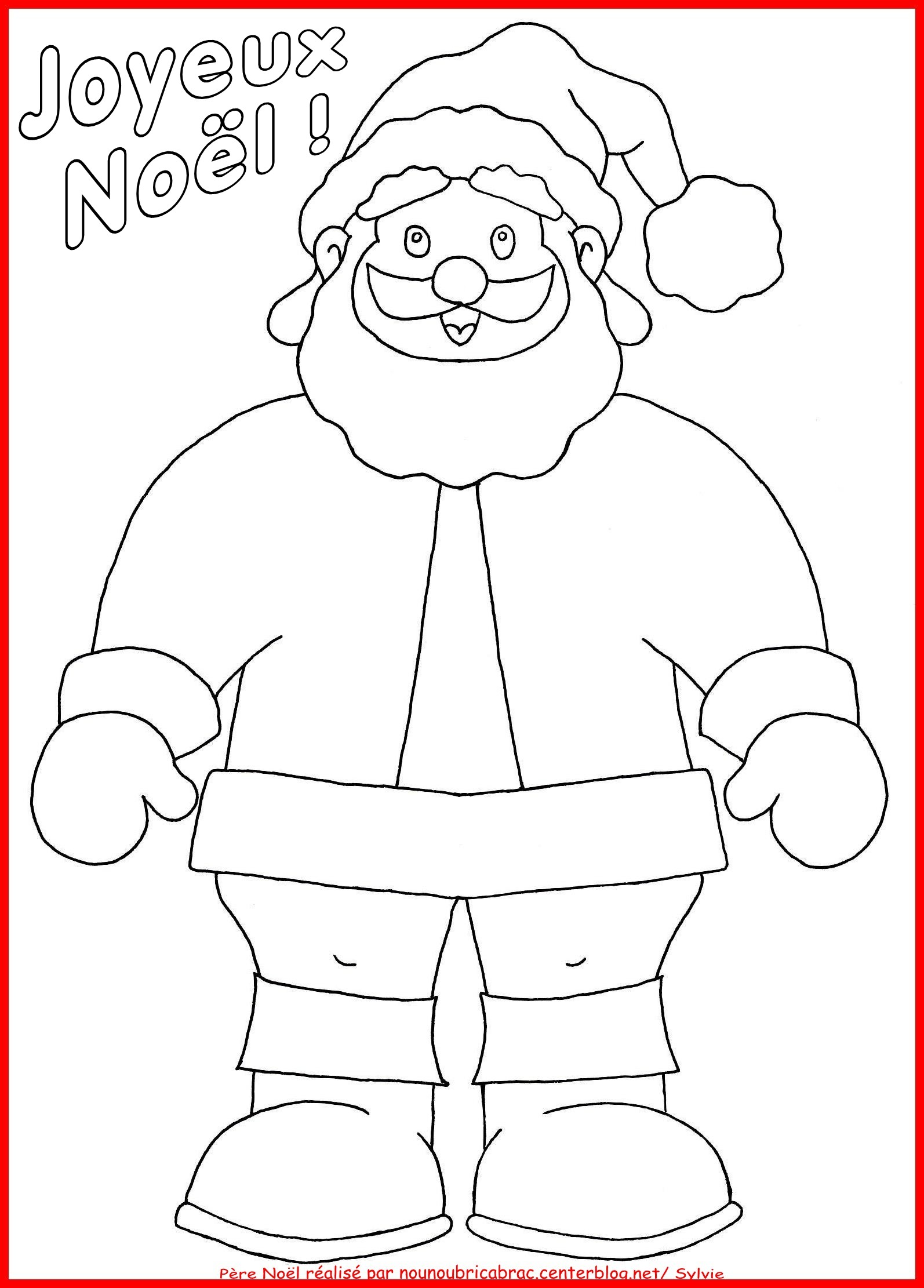 107 dessins de coloriage p re no l imprimer - Dessins pere noel ...
