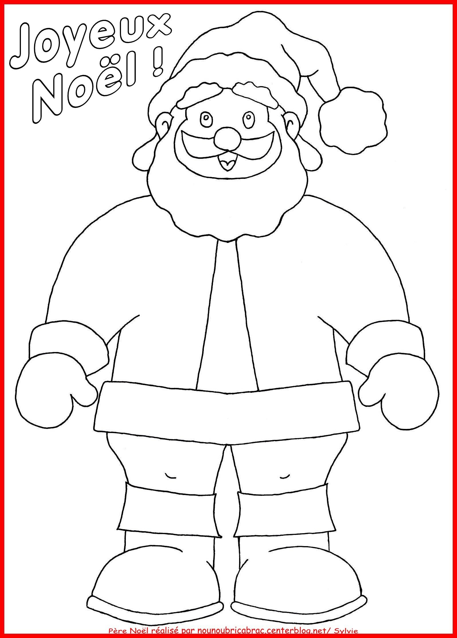 dessin à colorier pere noel pere noel 6