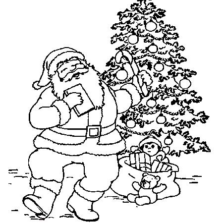 coloriage pere noel et bonhomme de neige