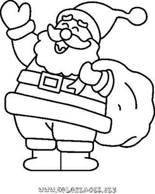 coloriage à dessiner pere noel et bonhomme de neige