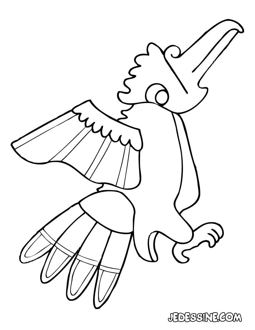 coloriage � dessiner de perruche a imprimer
