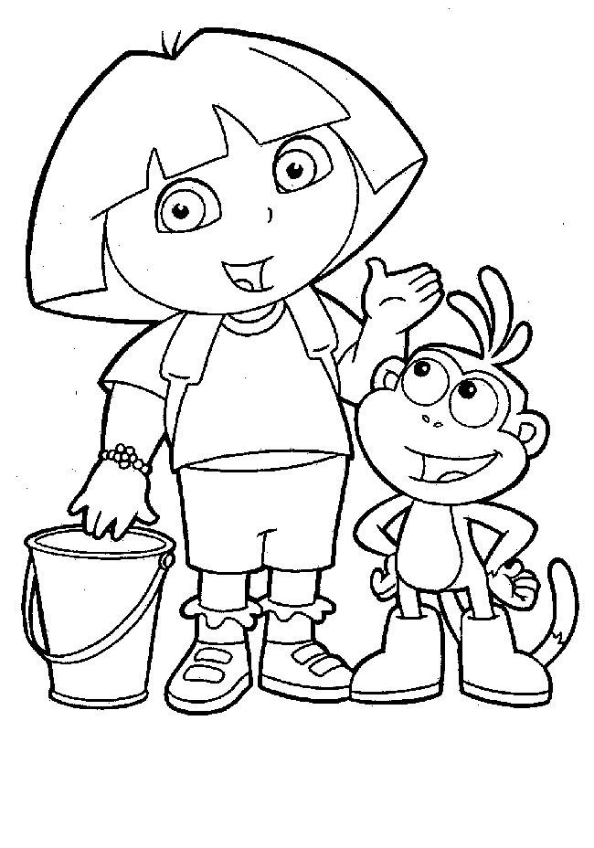 88 dessins de coloriage personnage disney imprimer - Personnage dora ...