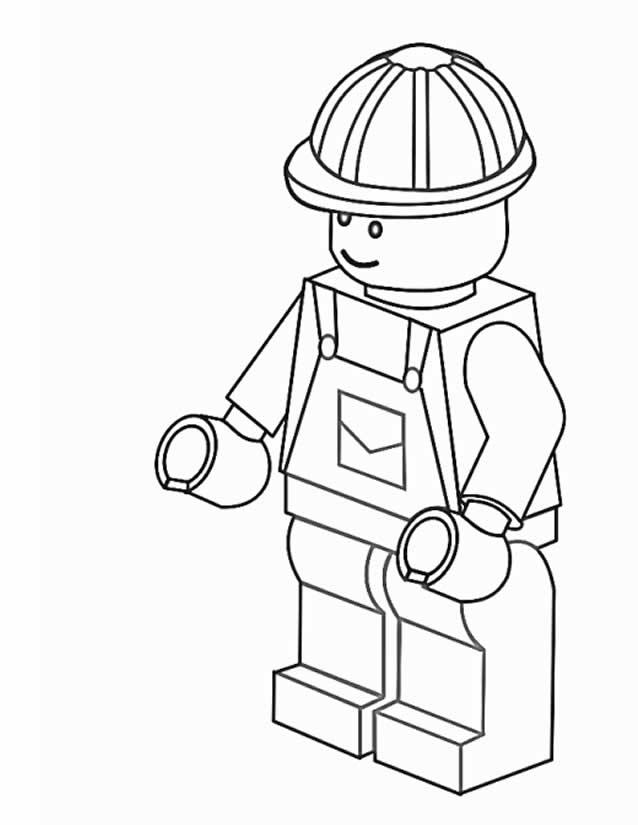 70 dessins de coloriage personnage lego imprimer - Coloriage personnage lego ...