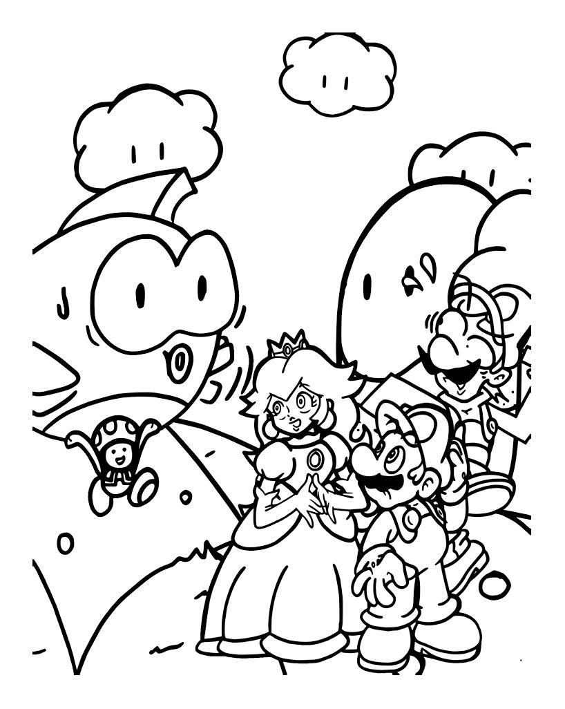 82 dessins de coloriage personnage mario kart imprimer - Coloriage magique mario ...