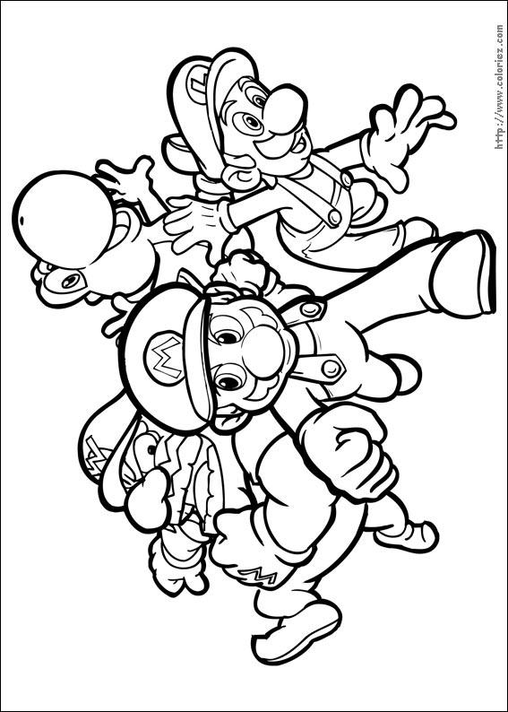 82 dessins de coloriage personnage mario kart imprimer - Dessin de mario et luigi ...