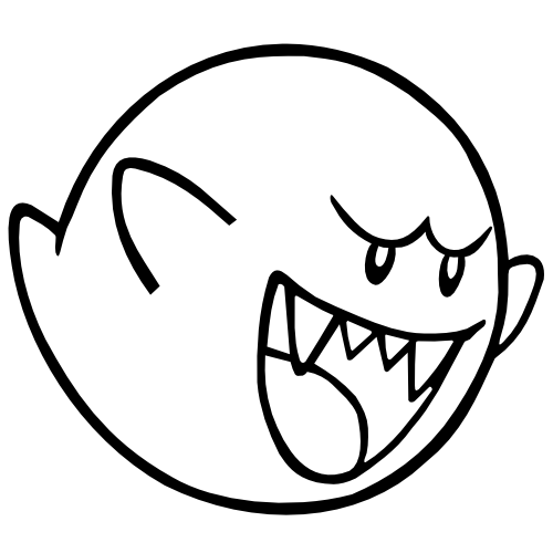 ghost mario coloring pages - photo#3