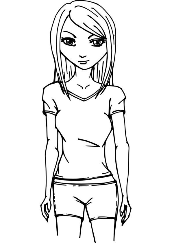 coloriage personnage conte