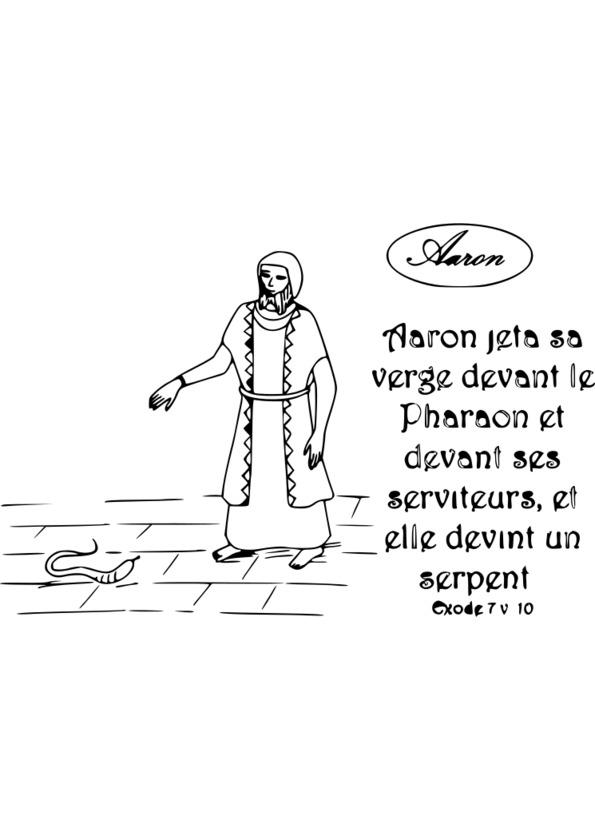 coloriage personnage de la bible