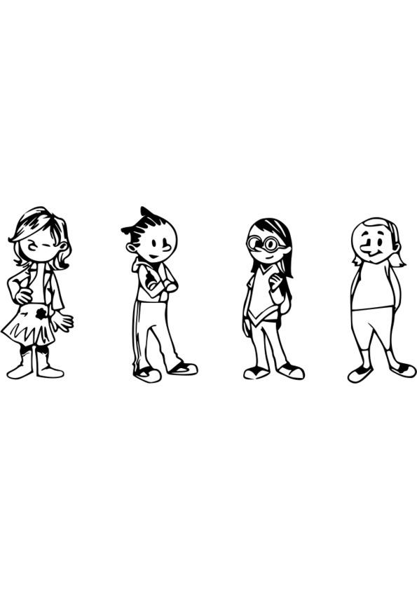 dessin imprimer personnage