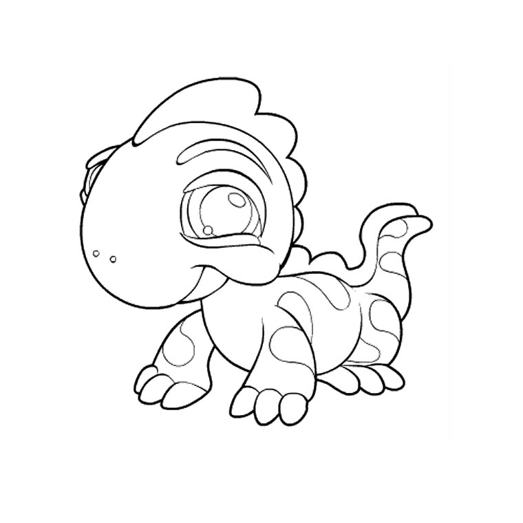 Coloriage petshop hugo l 39 escargot - Dessin a colorier petshop ...