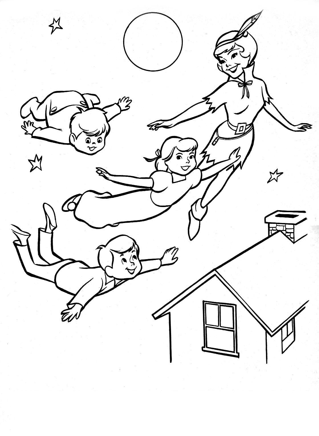 20 dessins de coloriage peter pan en ligne imprimer - Peter pan dessin anime gratuit ...