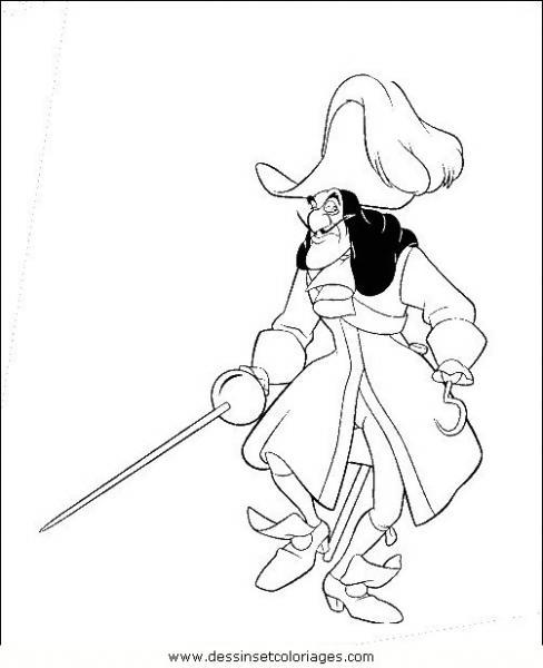 20 dessins de coloriage peter pan et capitaine crochet - Peter pan et capitaine crochet ...