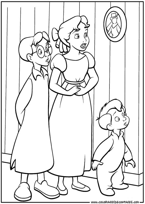 Coloriage gratuit peter pan for Immagini peter pan da colorare