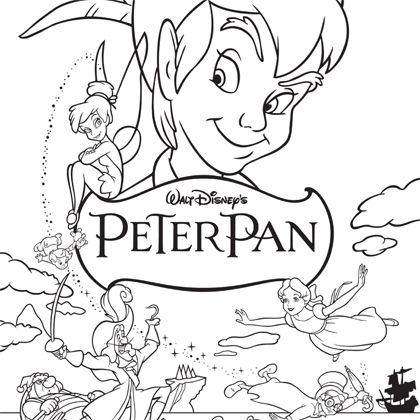 dessin peter pan et capitaine crochet
