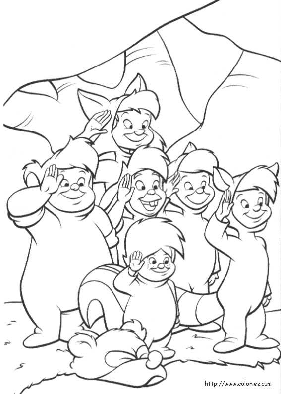dessin � colorier peter pan capitaine crochet