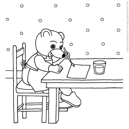 10 dessins de coloriage petit ours brun l 39 cole imprimer - Petit ours brun va al ecole ...