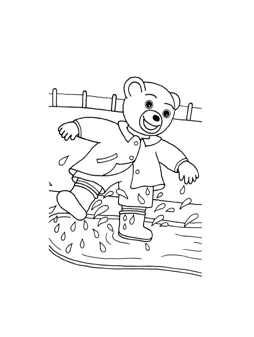5 dessins de coloriage petit ours brun ecole imprimer - Dessin de simpson a imprimer ...