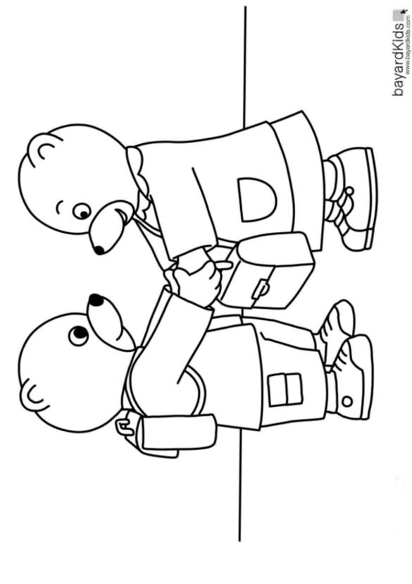 5 dessins de coloriage petit ours brun ecole imprimer - Coloriage petit ours brun a imprimer ...