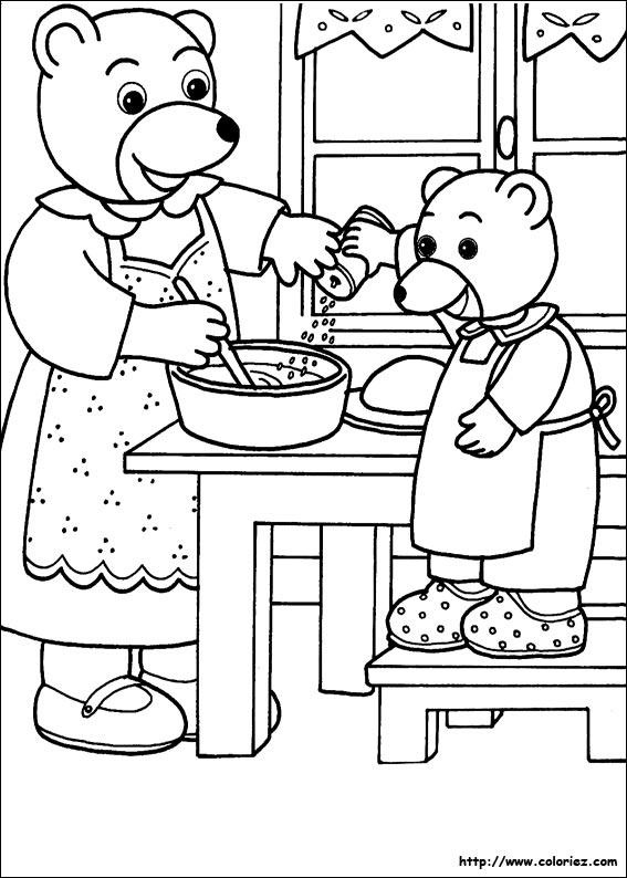 jeux de coloriage petit ours brun gratuit