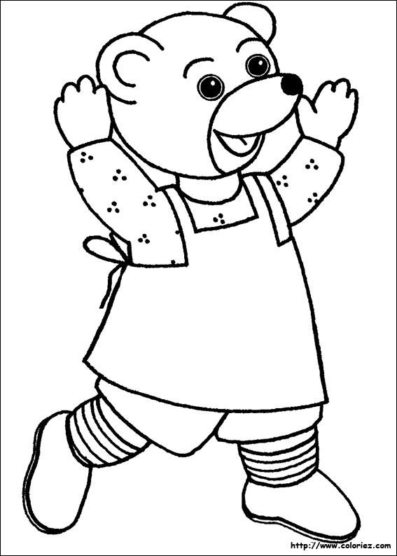 Coloriage dessiner petit ours brun neige - Ours a dessiner ...