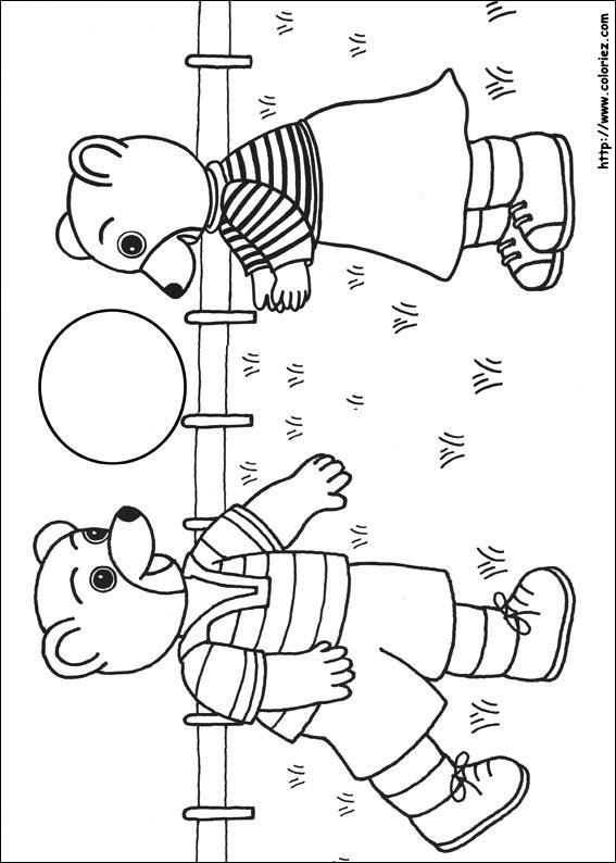 coloriage petit ours brun imprimer gratuit