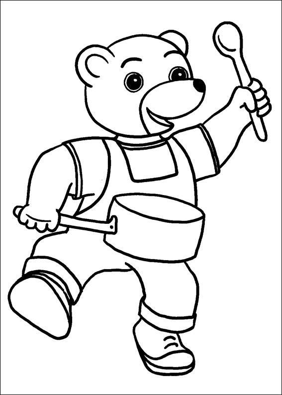 jeux dessin à colorier petit ours brun