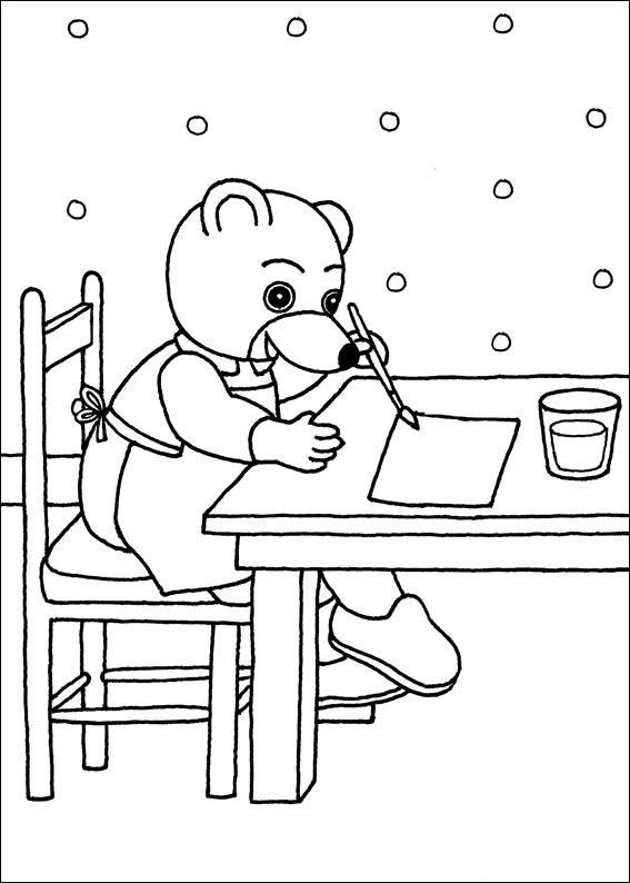 dessin en ligne gratuit petit ours brun