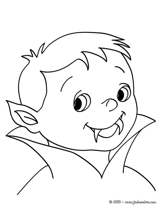 coloriage de petit vampire