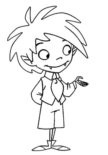 dessin � colorier petit vampire
