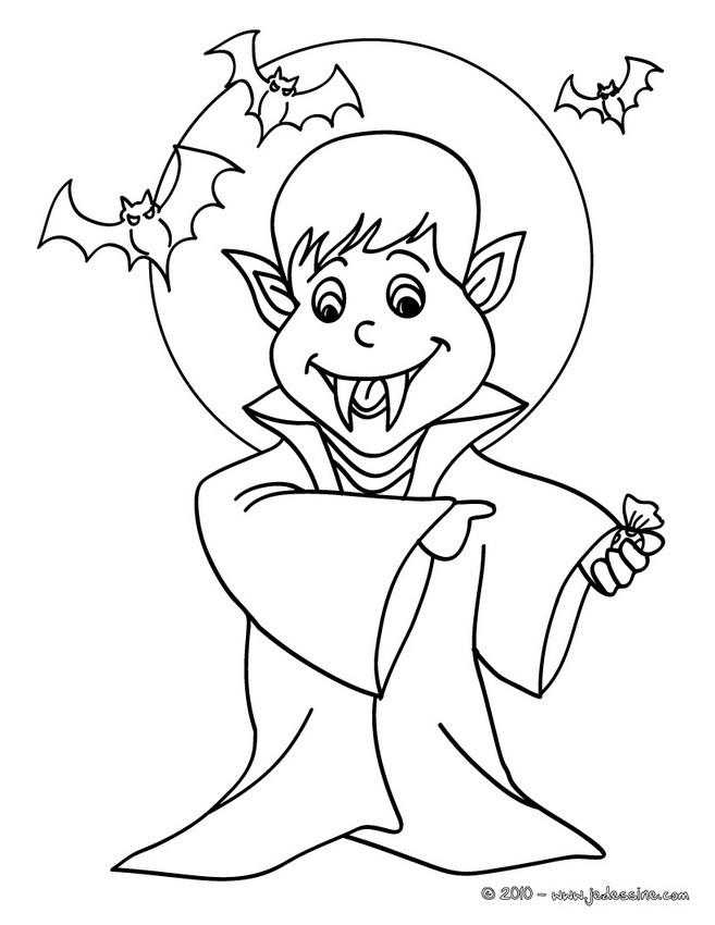 coloriage � dessiner petit vampire
