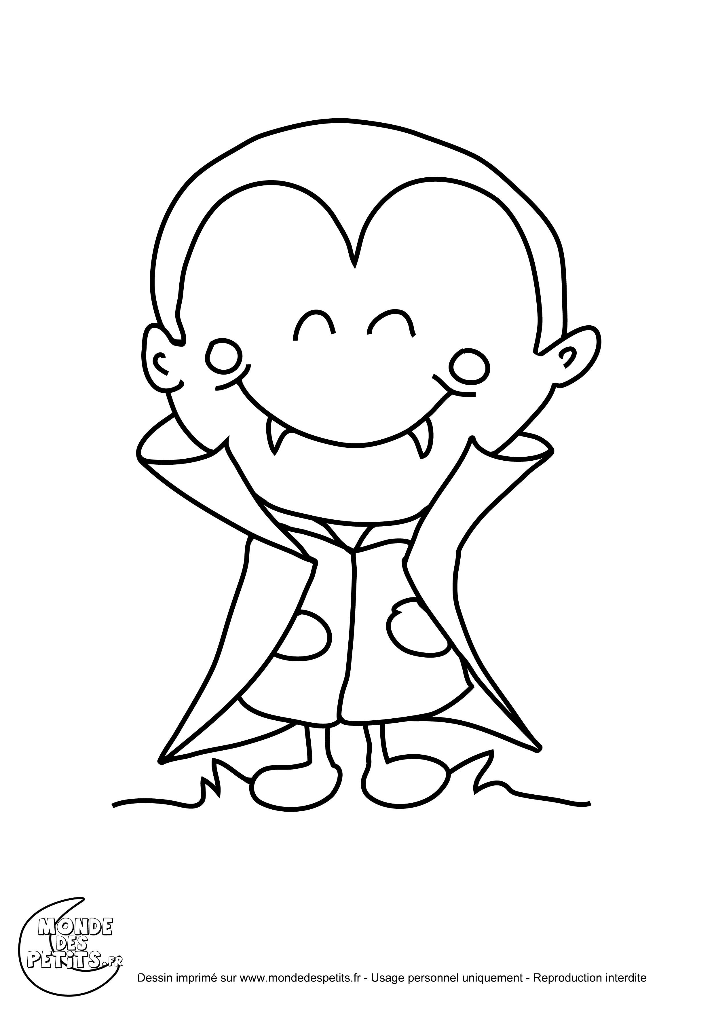 51 dessins de coloriage petit vampire imprimer - Dessin vampire a colorier ...