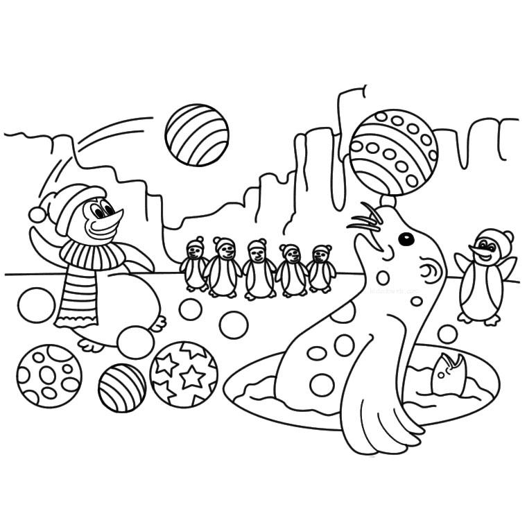 20 dessins de coloriage petshop phoque imprimer - Coloriage de phoque ...