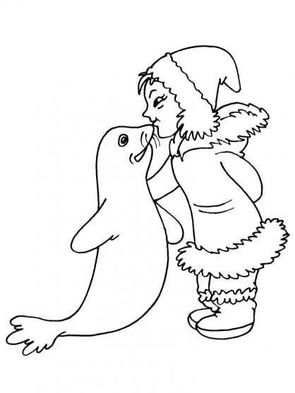 coloriage à dessiner de phoque a imprimer