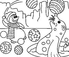 coloriage de phoque