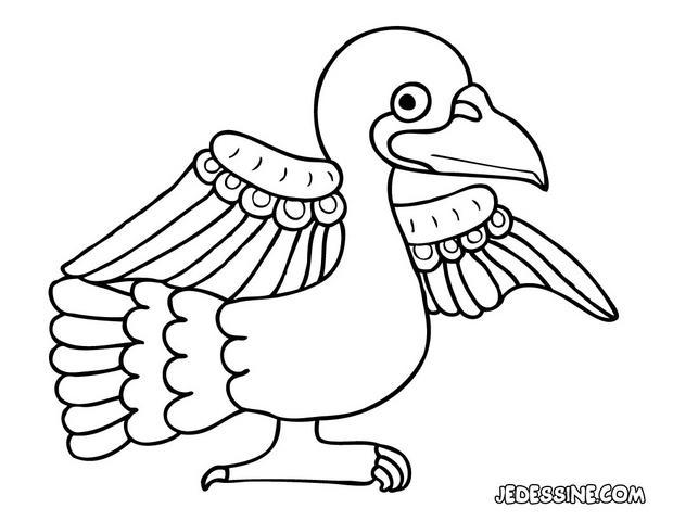coloriage pigeon a imprimer