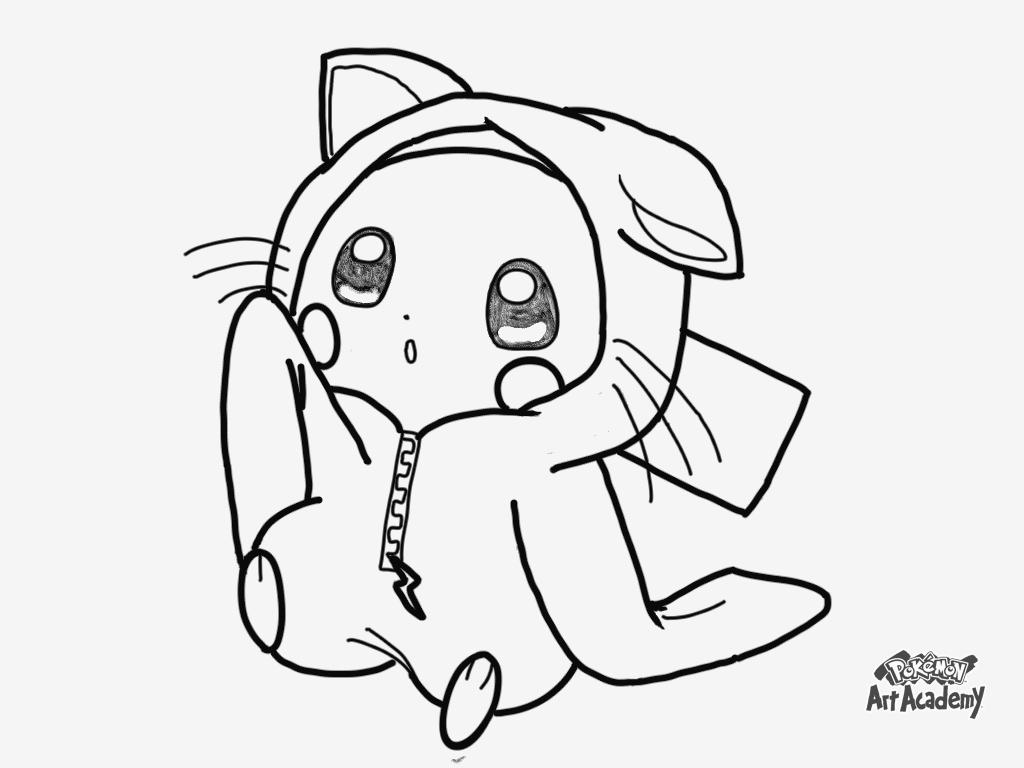 coloriage pikachu et sacha a imprimer