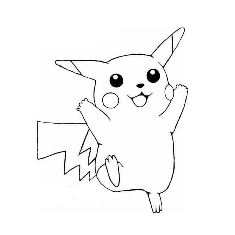 coloriage de pikachu en ligne