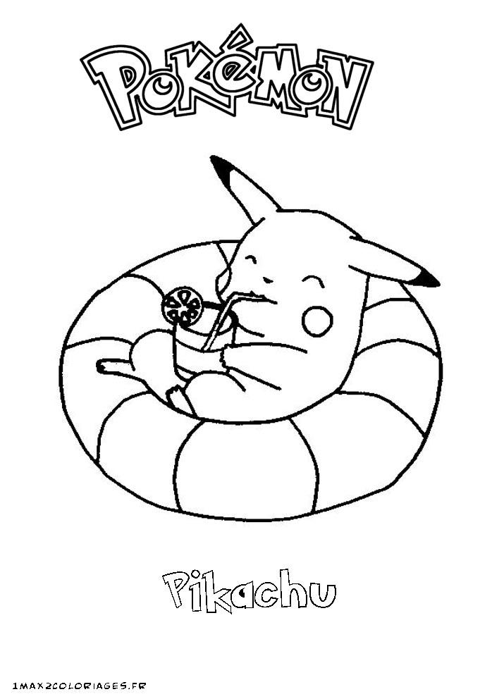 dessin pikachu noel