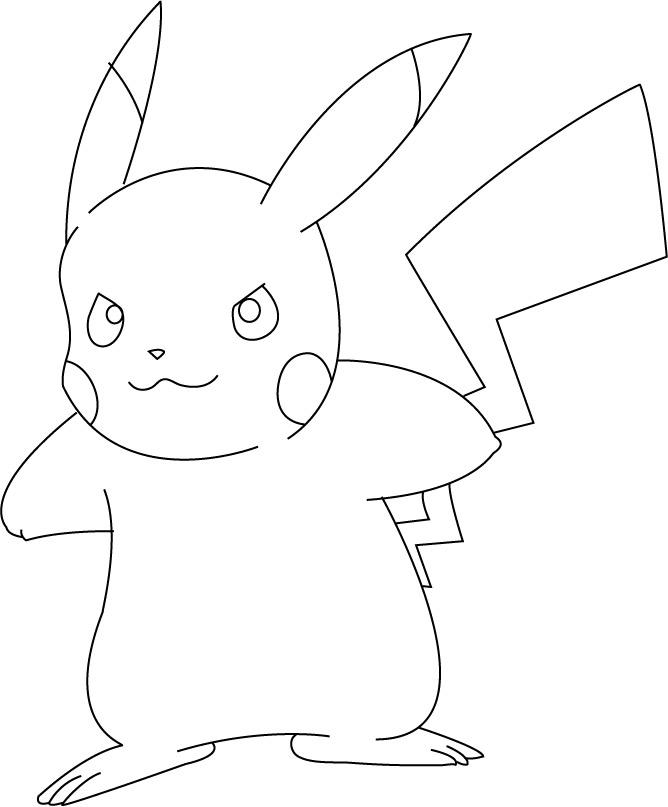 dessin de pikachu en ligne