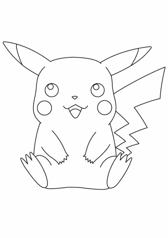 dessin pikachu imprimer