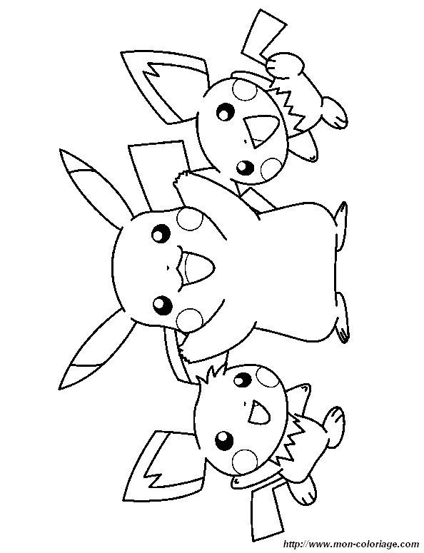 36 Dessins De Coloriage Pikachu A Imprimer