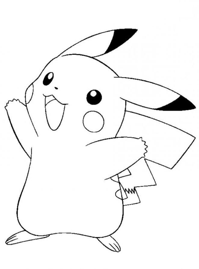 dessin de pikachu a imprimer