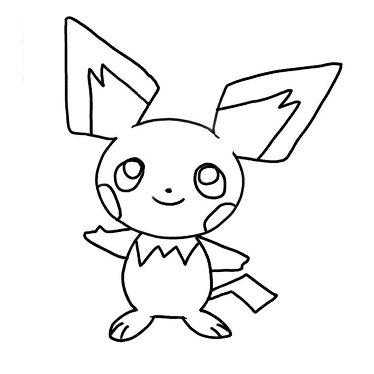 dessin à colorier pokemon pikachu a imprimer
