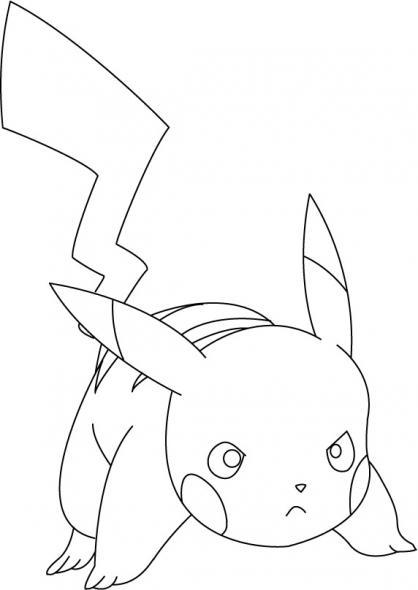 Dessin pikachu et sacha a imprimer - Pikachu dessin anime ...
