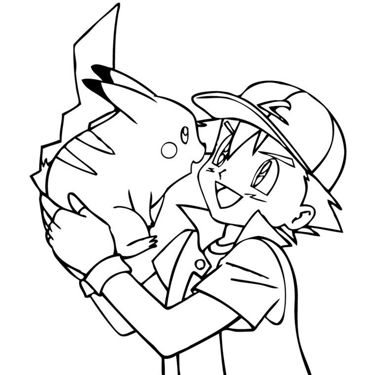 dessin à colorier pikachu et ses amis