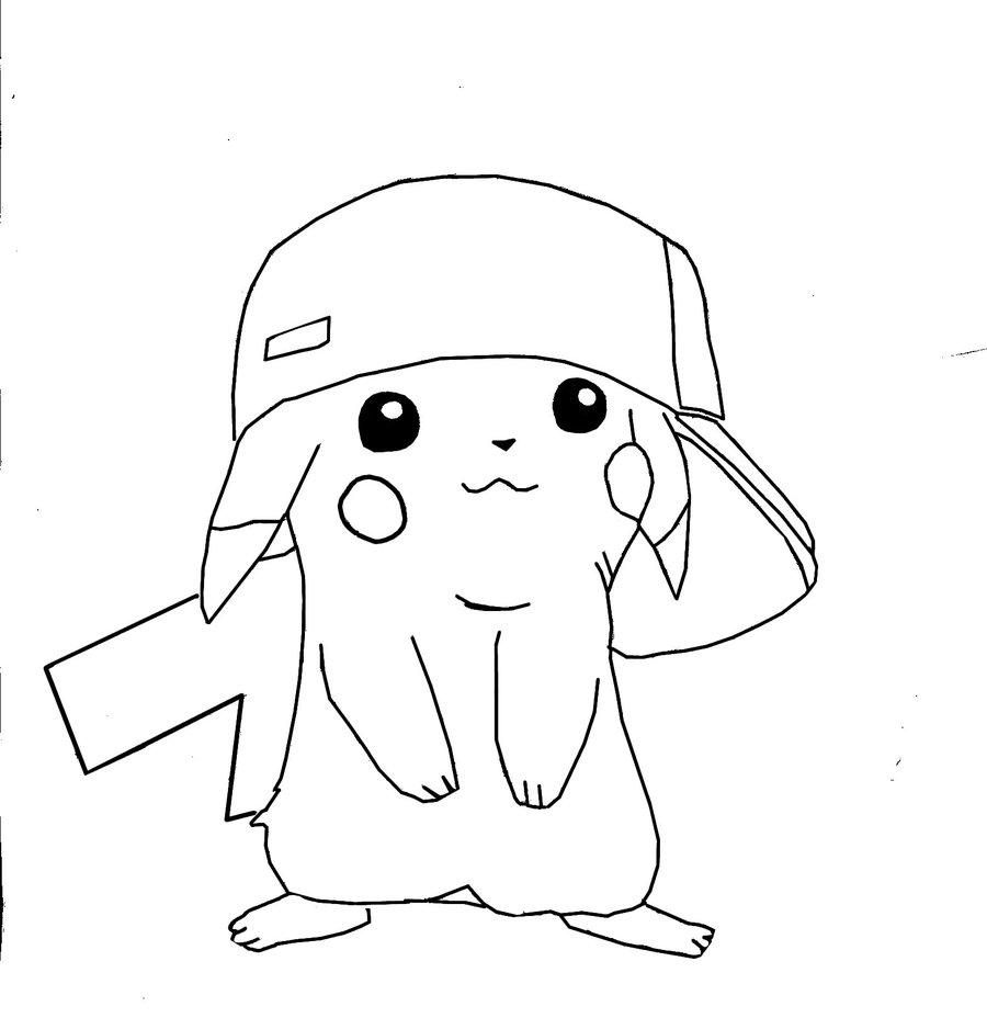 32 Dessins De Coloriage Pikachu A Imprimer
