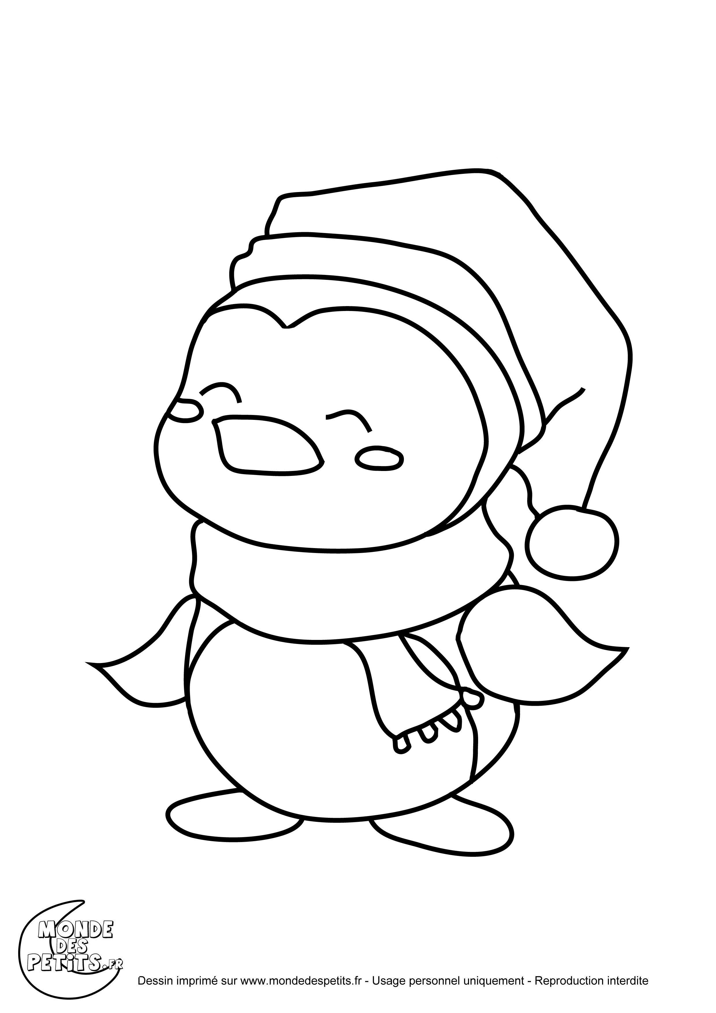 20 dessins de coloriage pingouin de noel imprimer - Dessin pinguoin ...