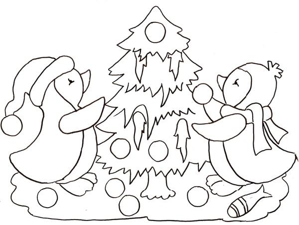Coloriage de pingouin de noel exactjuristen - Coloriage pinguoin ...