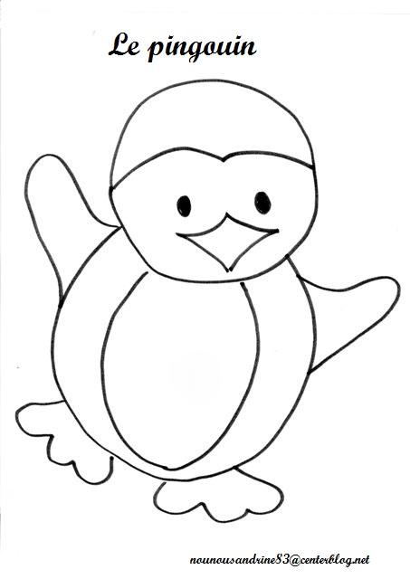 dessin papa pingouin
