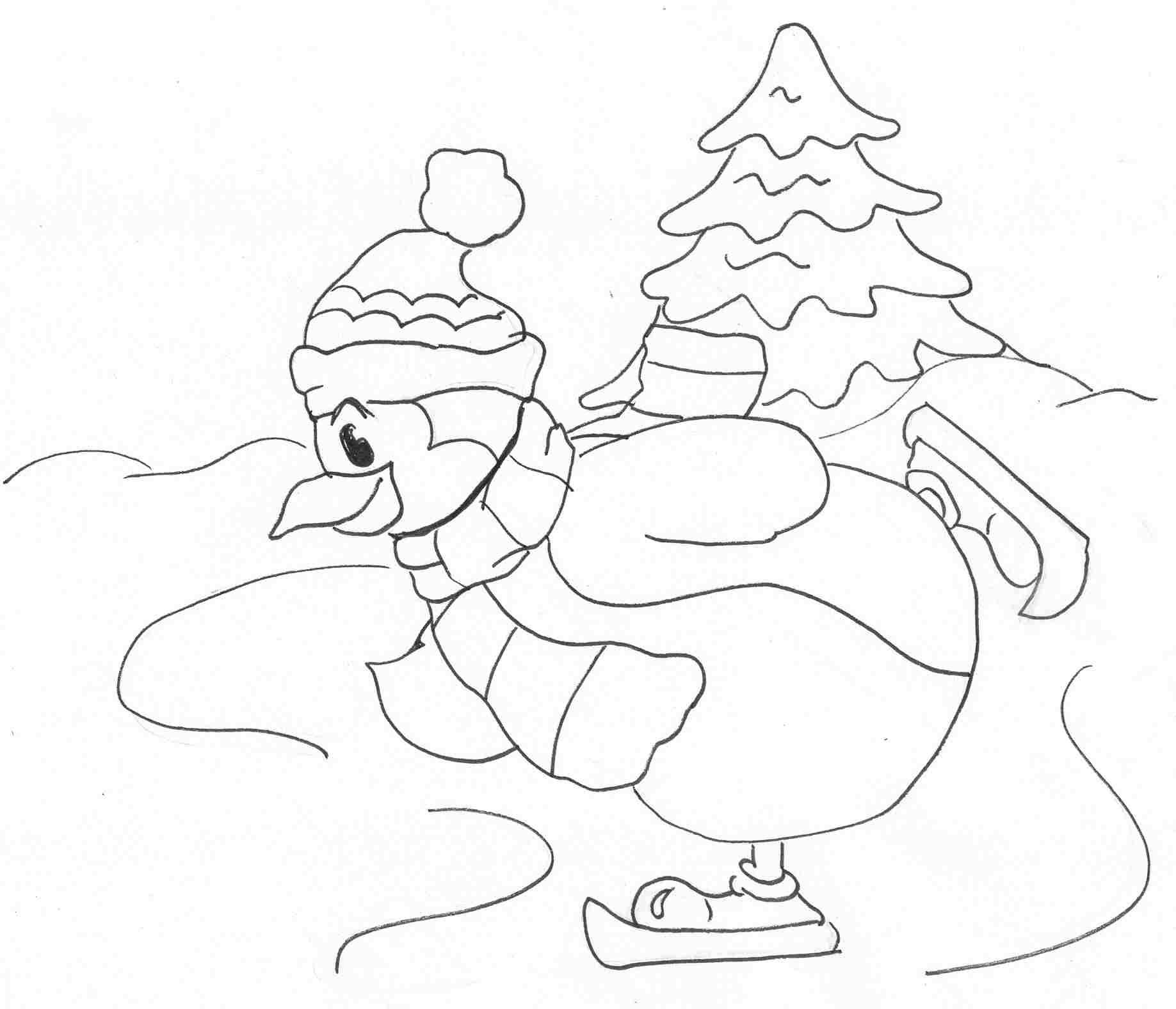 Dessin plouk pingouin - Coloriage minable le pingouin ...